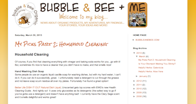 Bubble + Bee Organic Blog
