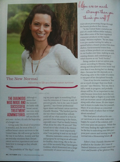 Natural SOlutions Magazine The New Normal Adjusting to Life as a Breast Cancer Survivor
