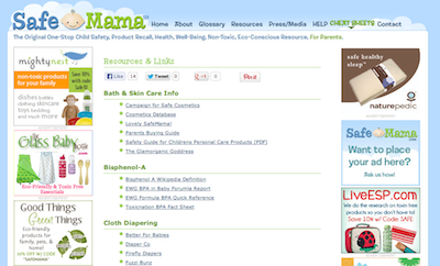 Safe Mama Resources Links Glamorganic Goddess