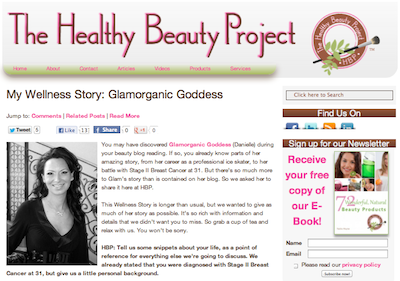"The Healthy Beauty Project  ""My Wellness Story: The Glamorganic Goddess"""