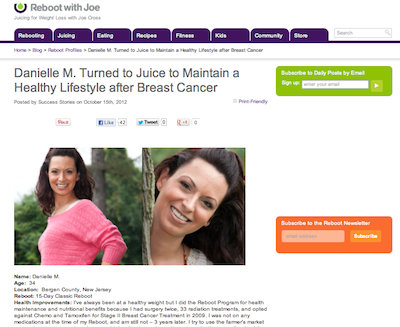 Danielle The Glamorganic Goddess Turned to Juice to Maintain a Healthy Lifestyle after Breast Cancer