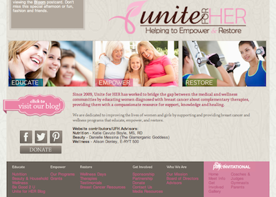 Unite for Her Breast Cancer Organization Blog Contributor Glamorganic Goddess