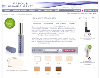 Vapour Organic Beauty Illusionist Natural Concealer Review Glamorganic Goddess
