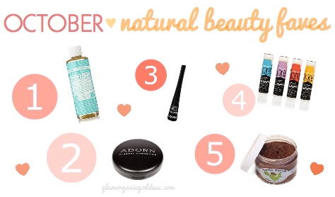 October Natural Beauty Faves