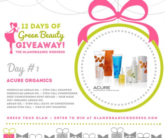 12 Days Green Beauty Giveaway Glamorganic Goddess Day 1 Acure Organics