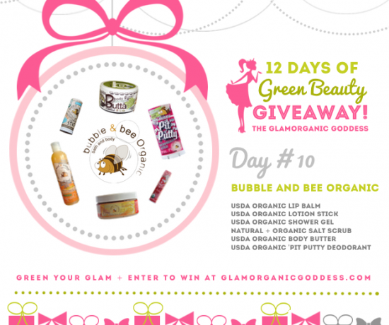 Green Beauty Giveaway Bubble and Bee Organic DAY 10
