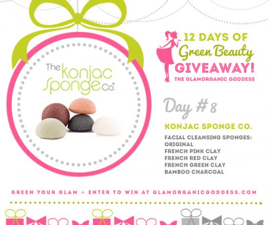 Green Beauty Giveaway Konjac Sponge Co DAY 8