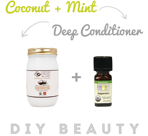 DIY Beauty | Organic Coconut + Mint Deep Conditioner