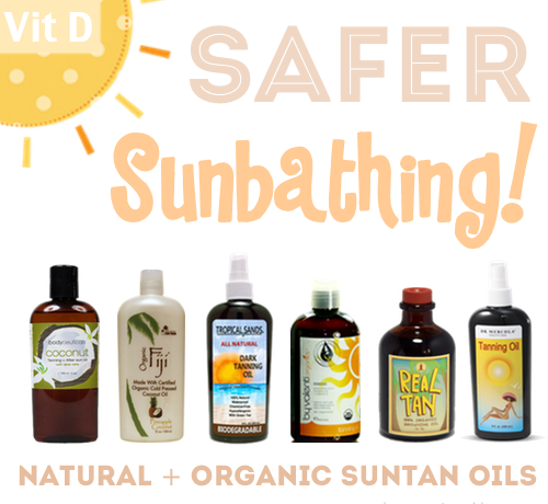 Safer Suntan Oils Natural + Organic Tanning Oil