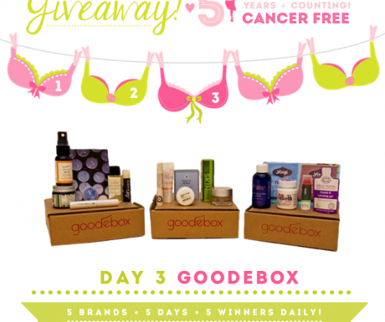 Green Your Glam Giveaway Breast Cancer Prevention GoodeBox