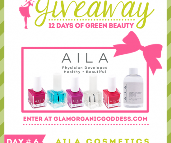 12 Days Green Beauty Giveaway Aila Cosmetics