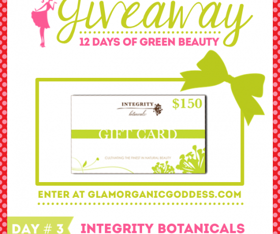 12 Days Green Beauty Giveaway Integrity Botanicals