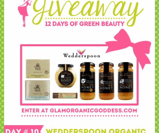 12 Days Green Beauty Giveaway Wedderspoon Organic