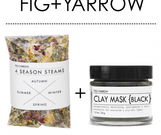 Fig + Yarrow 4 Season Steams + Black Clay Mask Review
