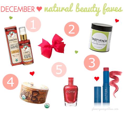 December Natural Beauty Faves