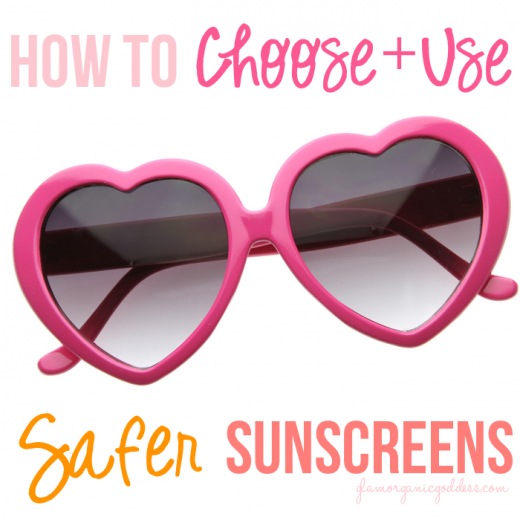 how to choose + use natural organic safe sunscreens