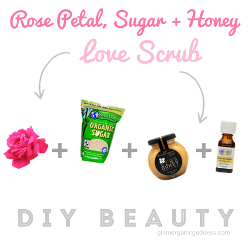 DIY Beauty Rose Petal Sugar Wedderspoon Honey Love Scrub